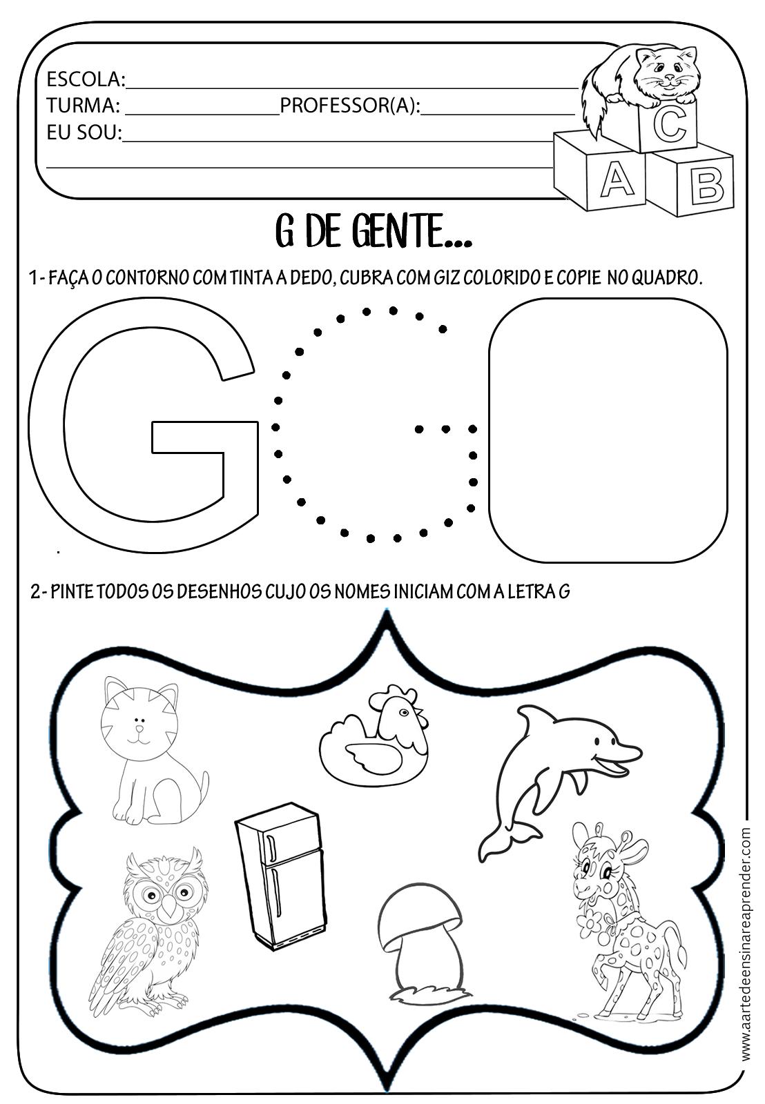 Muitas vezes Atividade pronta- Letra G - A Arte de Ensinar e Aprender HP29