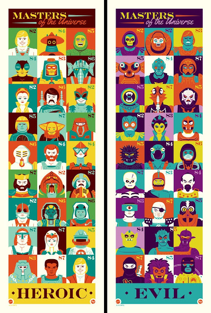 "He-Man and the Masters of the Universe ""Eternia's Most Heroic"" & ""Eternia's Most Evil"" Screen Prints by Dave Perillo"
