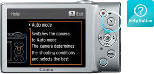 Canon PowerShot A4000IS Help Button