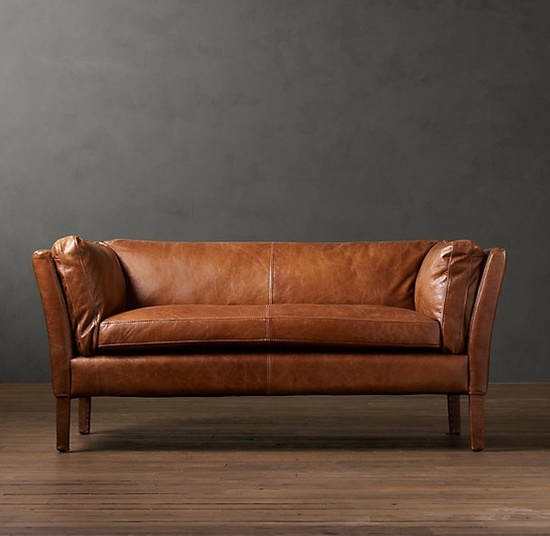 Restoration Hardware Leather Sofa Couch