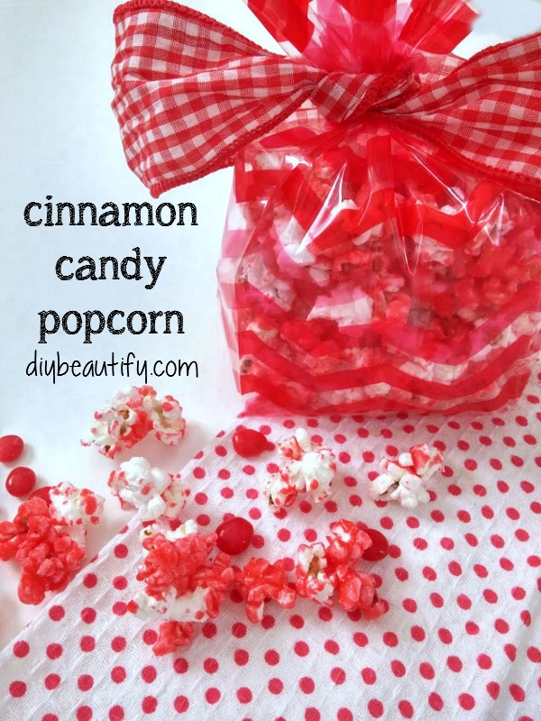 crunchy and sweet cinnamon candy popcorn at DIY beautify