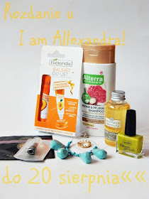 Do 22 sierpnia 2015 rozdanie n blogu I am Allexandra