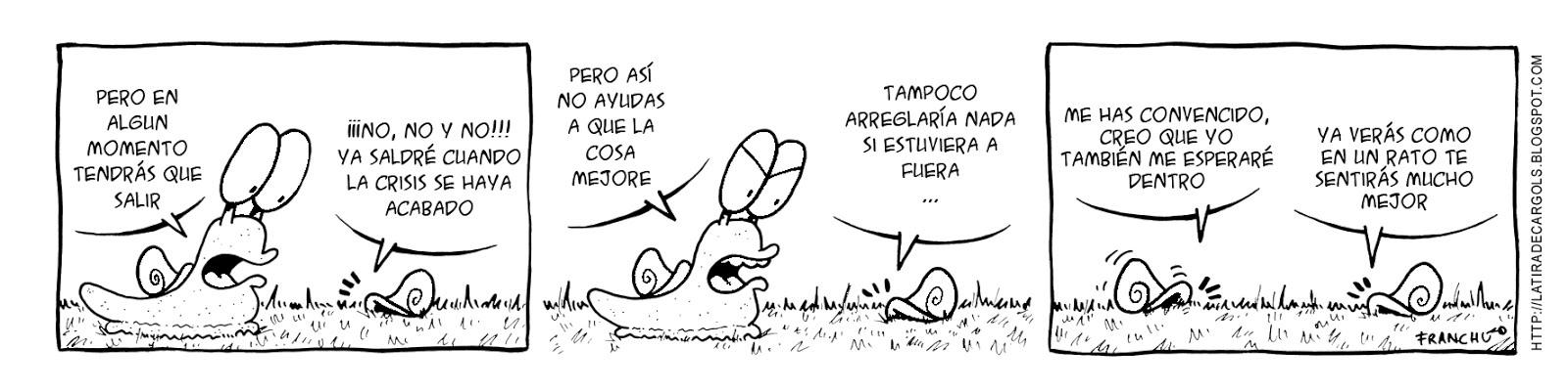 Tira comica 139 del webcomic Cargols del dibujante Franchu de Barcelona