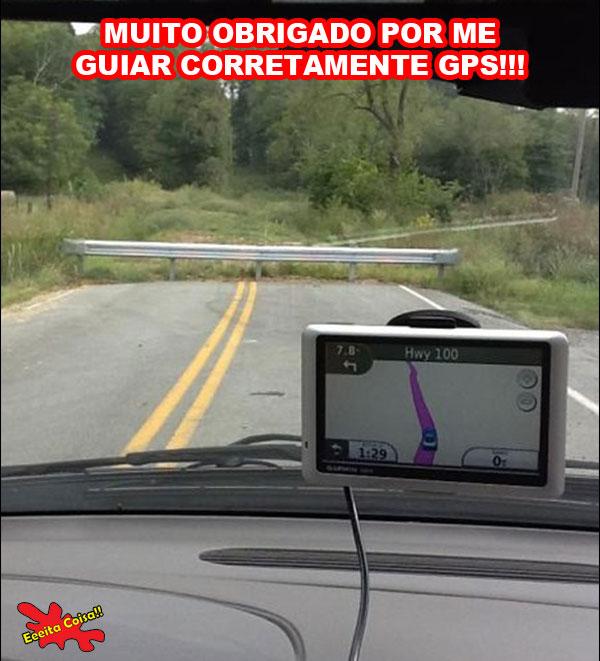 GPS, obrigado, caminho errado, eeeita coisa