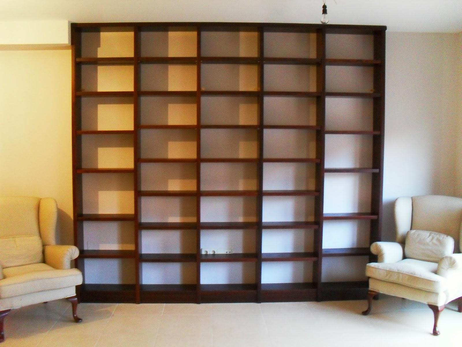 Libreria a medida madrid mueble a medida 617075183 for Muebles de algarrobo precios