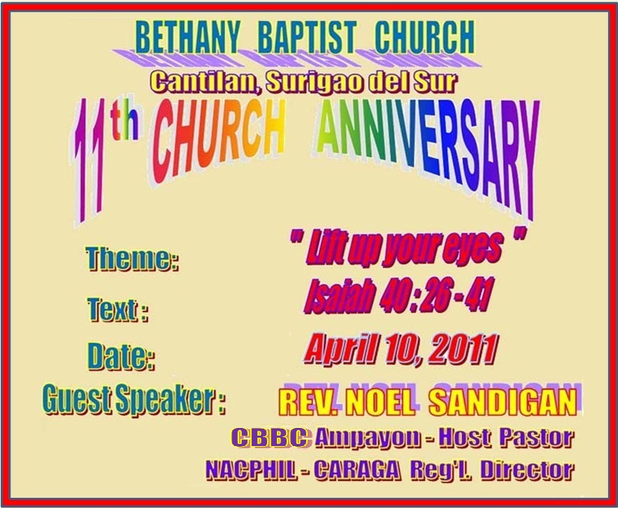 themes for church anniversary with scripture | just b.CAUSE