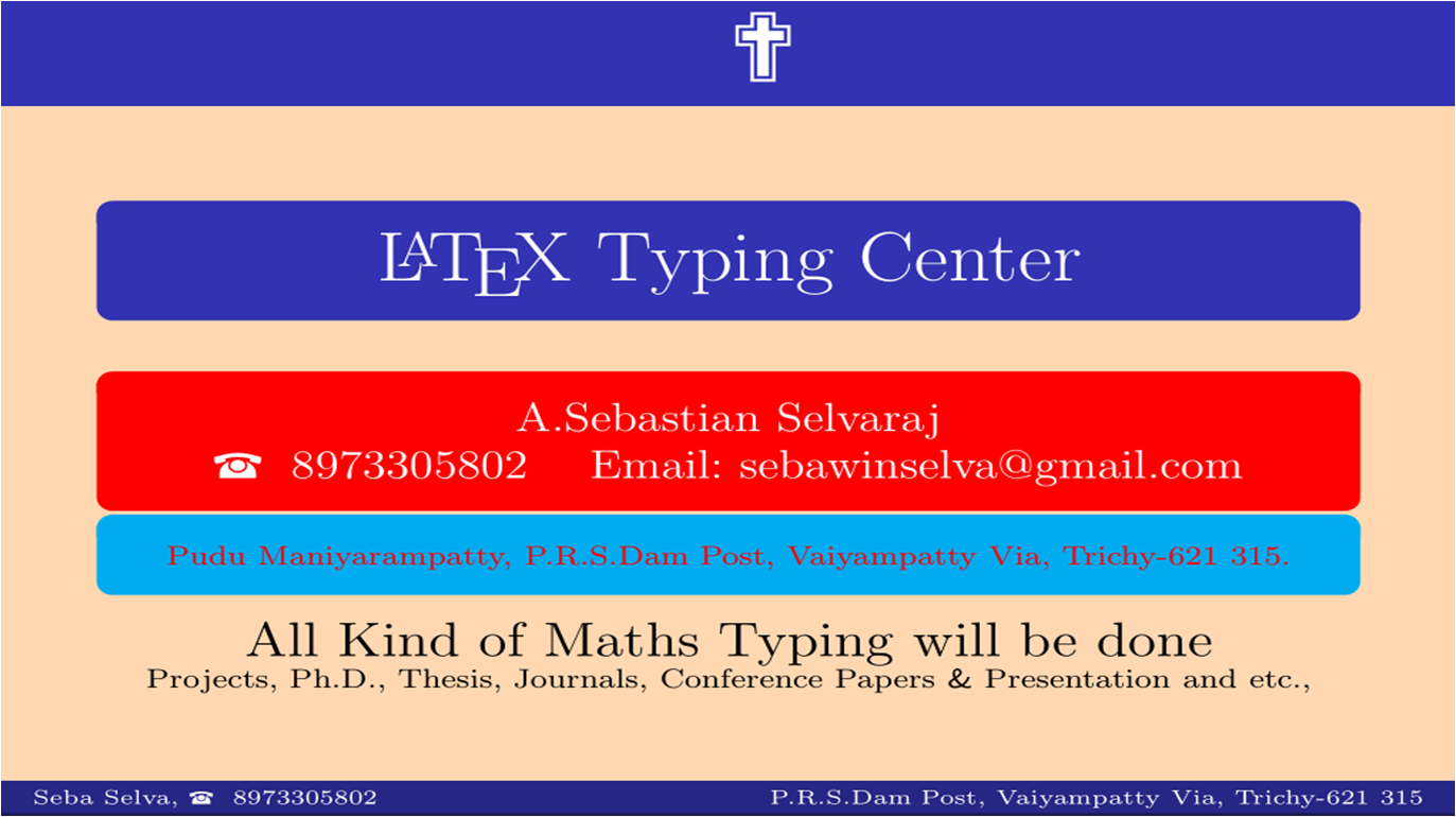 Typing a thesis in latex