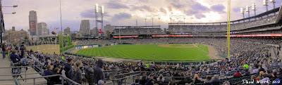 comerica park, night game, panorama, stadium
