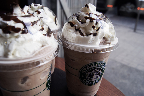 chocolate frappuccinos