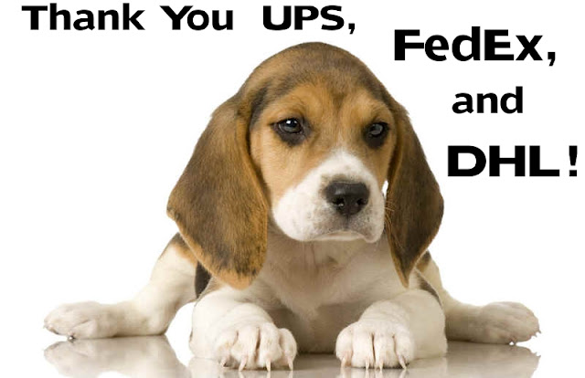 UPS, FedEx and DHL join other airline carriers that refuse to ship lab animals for research