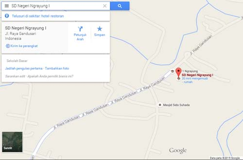 Maps SD Negeri Ngrayung I