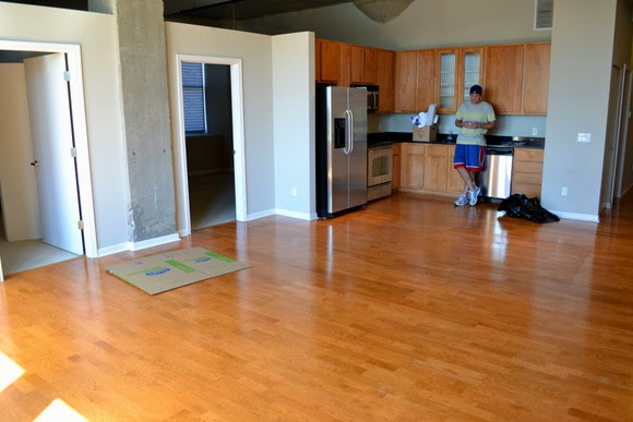 Our empty loft looks so different, and it was hard to say goodbye!
