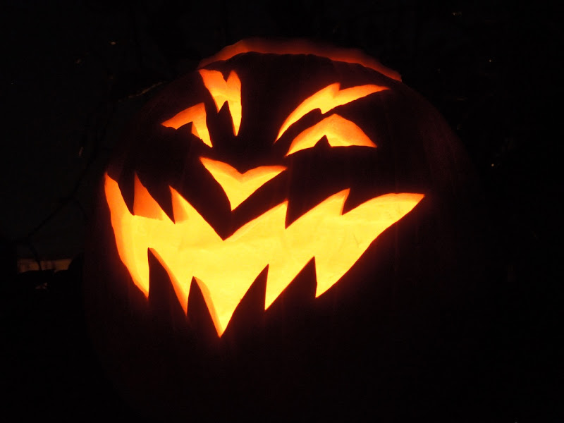 Carved Halloween pumpkin design