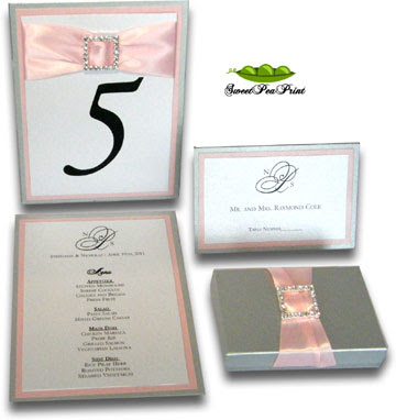 Designed By Sweet Pea Print Layered Invites Custom Menu Card 3 layers