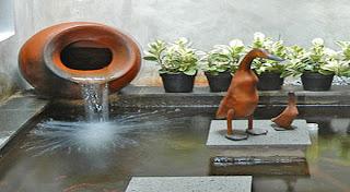 kolam air mancur,kolam ikan koi,kolam hias | love green