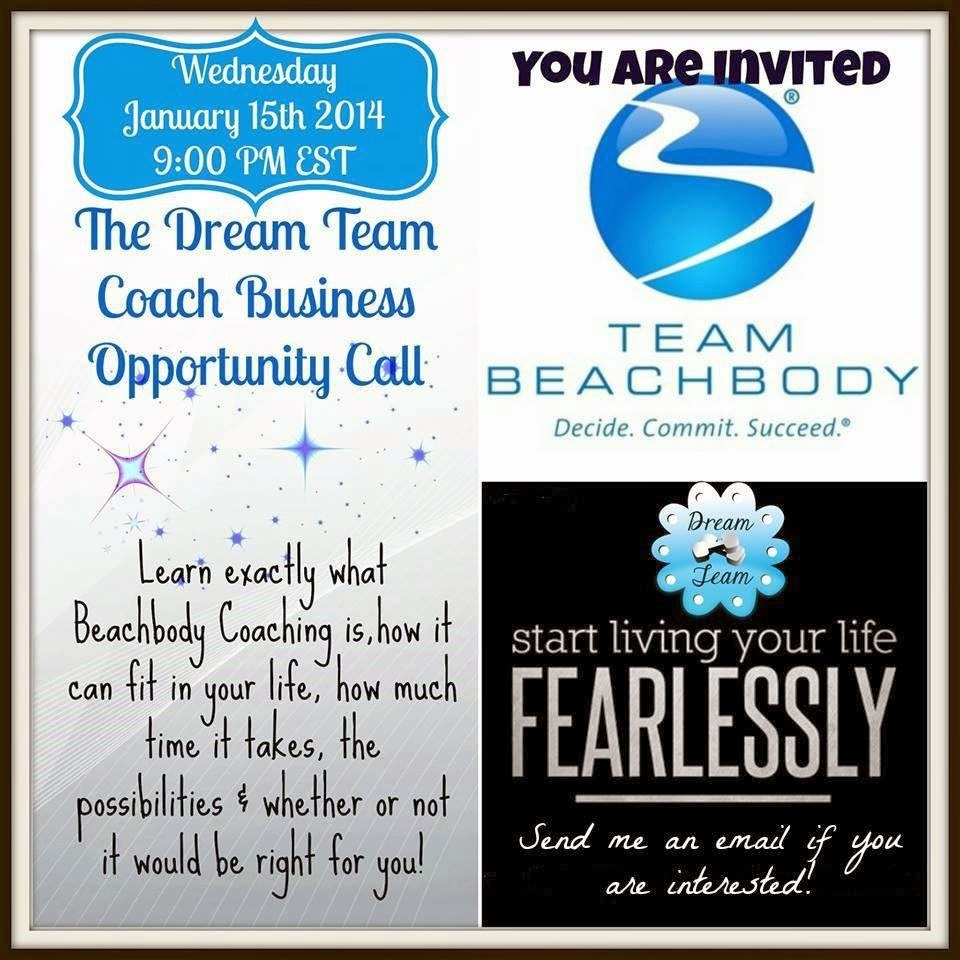 Dream Team Coach opportunity call, www.healthyfitfocused.com