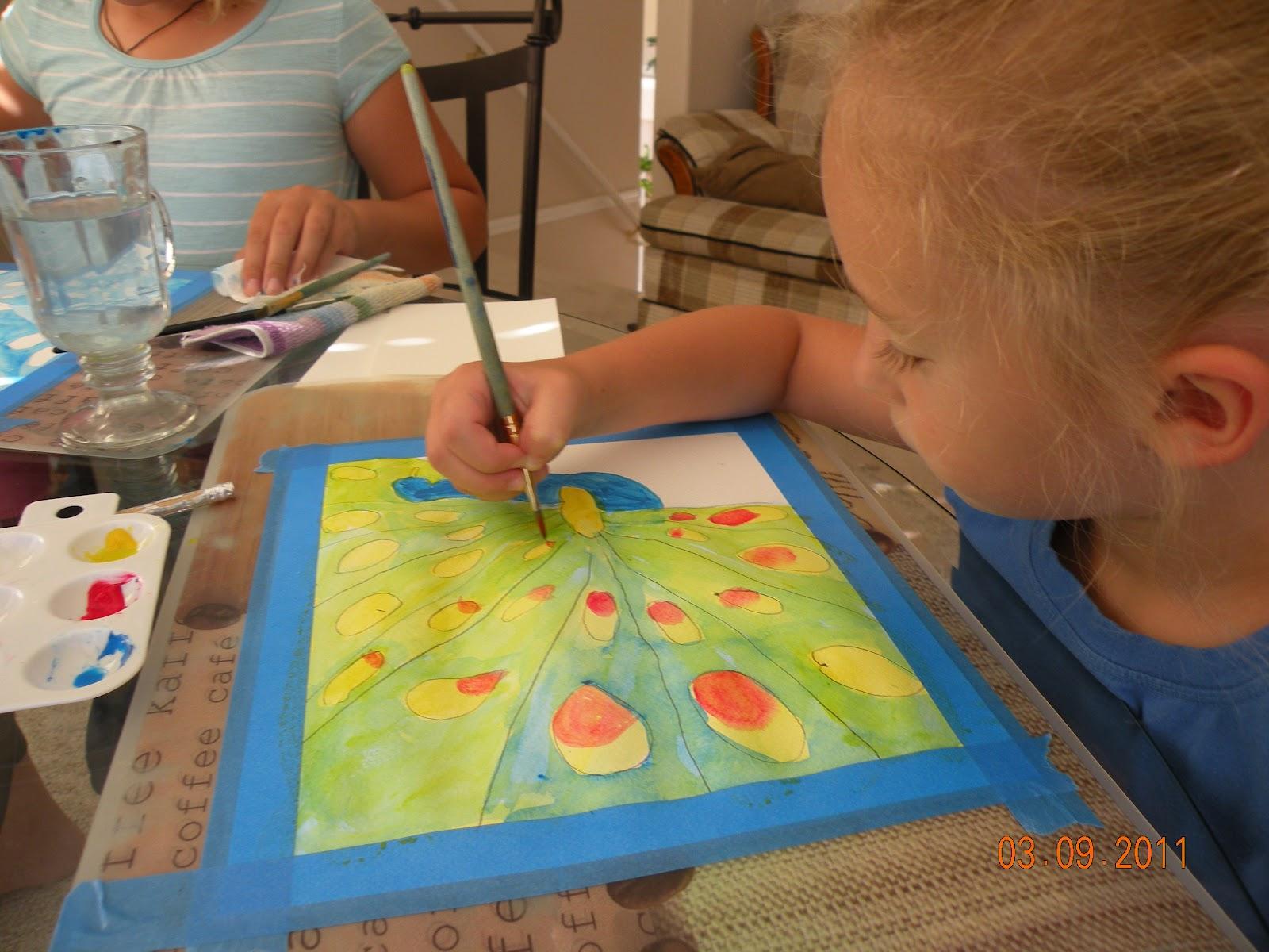 kids love art watercolor lesson