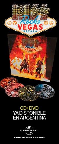 """Kiss Rocks Vegas"" CD+DVD ya disponible en Argentina"