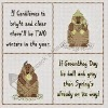 groundhog day cross stitch chart