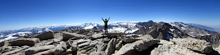 Panoramic shot of me on the summit.