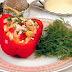 Pimientos dulces rellenas con arroz y verduras