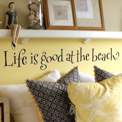 saying Vinyl letters on wall