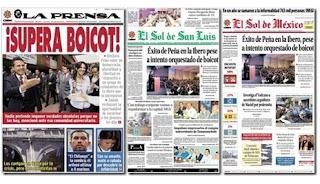 Portadas tras protesta vs EPN