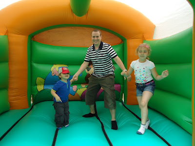 The Family having Fun on a Bouncy Castle!
