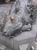 Modern homage to Durer statue