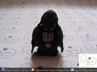 Darth Vader Belen de Star Wars hecho con Fimo