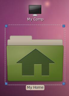 stretch desktop icon to a bigger size
