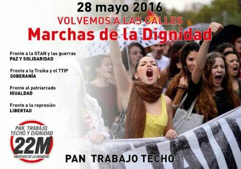 28 Mayo. Volvemos a las calles. Marchas de la Dignidad