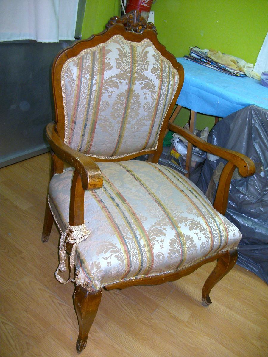 Restauraci n el palisandro restauraci n reciclado de un sill n descalzadora - Restaurar sillas de madera ...