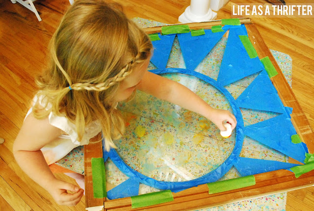 steps to making stained glass with kids