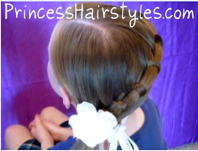 braided side ponytail