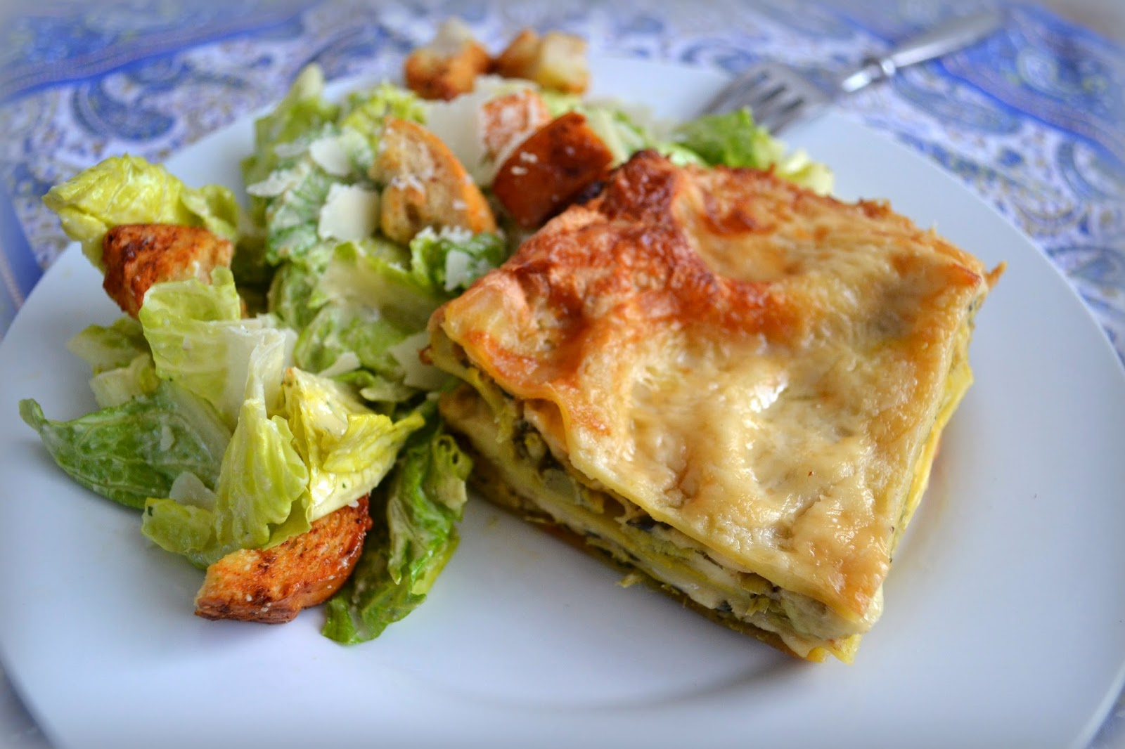 Vegetarian Four Cheese Lasagna Recipe — Dishmaps