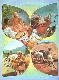 Brahmana, Kshatriya, Vaisya and Sudra