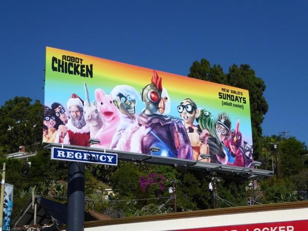 Robot Chicken season 8 billboard