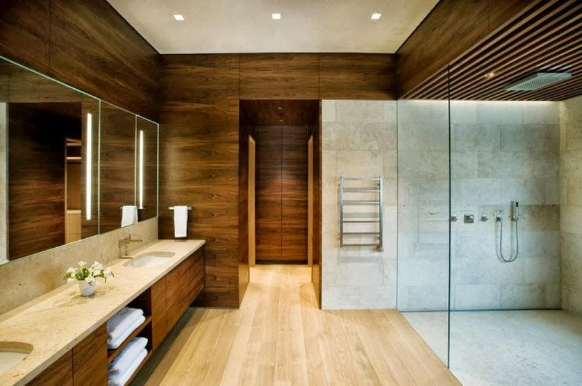 Planos y dise o de casa moderna especial para climas fr os for Disenos de banos de casas modernas
