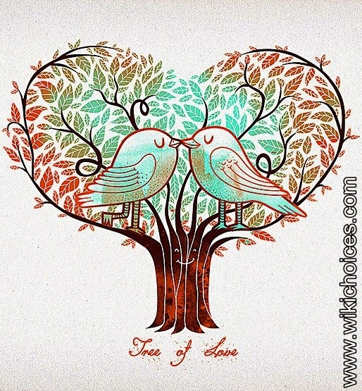 Beautiful pictures of tree of love and heart shaped trees