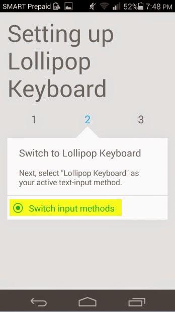 Android 5.0 Lollipop Keyboard