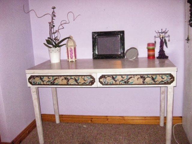 Toaletka, biurko, dressing table, diy, decoupage, handmade,