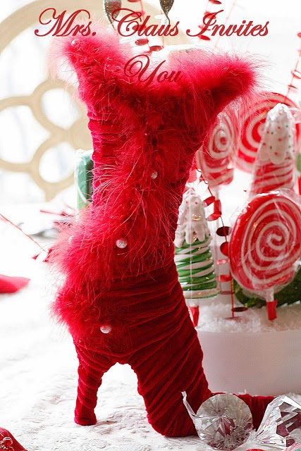 Mrs. Claus' Candy Table