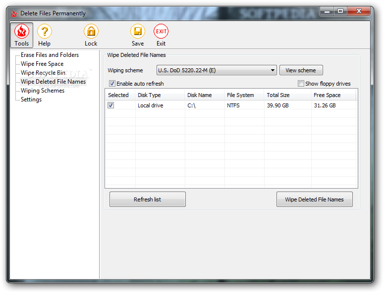 برنامج delete files permanently لحذف البرامج نهائيا من على الكمبيوتر