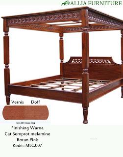 Contoh Furniture Semprot Melamine Rotan Pink