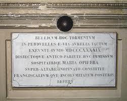 Palla di cannone nella chiesa di San Bartolomeo all'Isola Tiberina