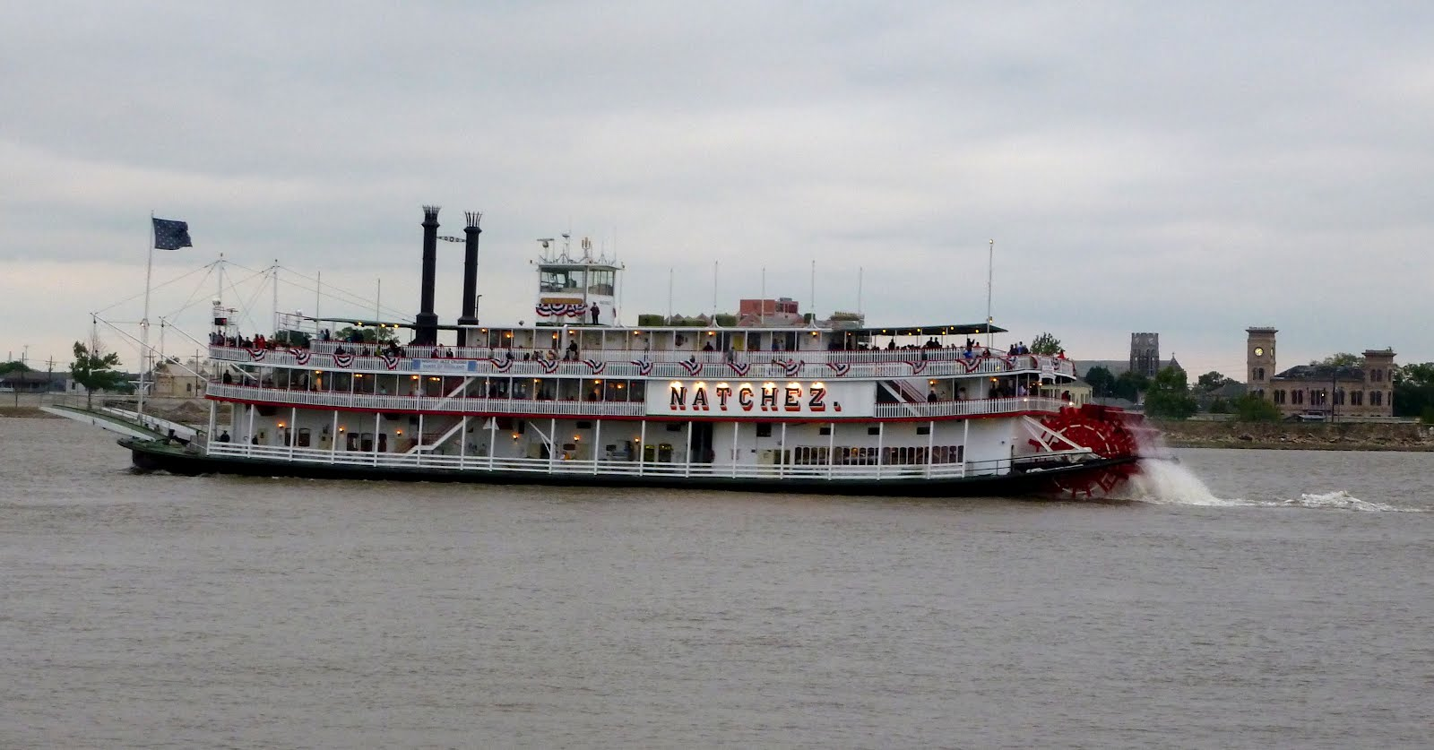 cruising on the lower mississippi river in new orleans