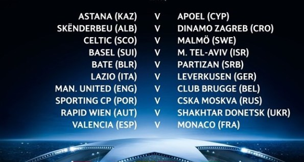 Hasil Drawing Play-Off Liga Champions