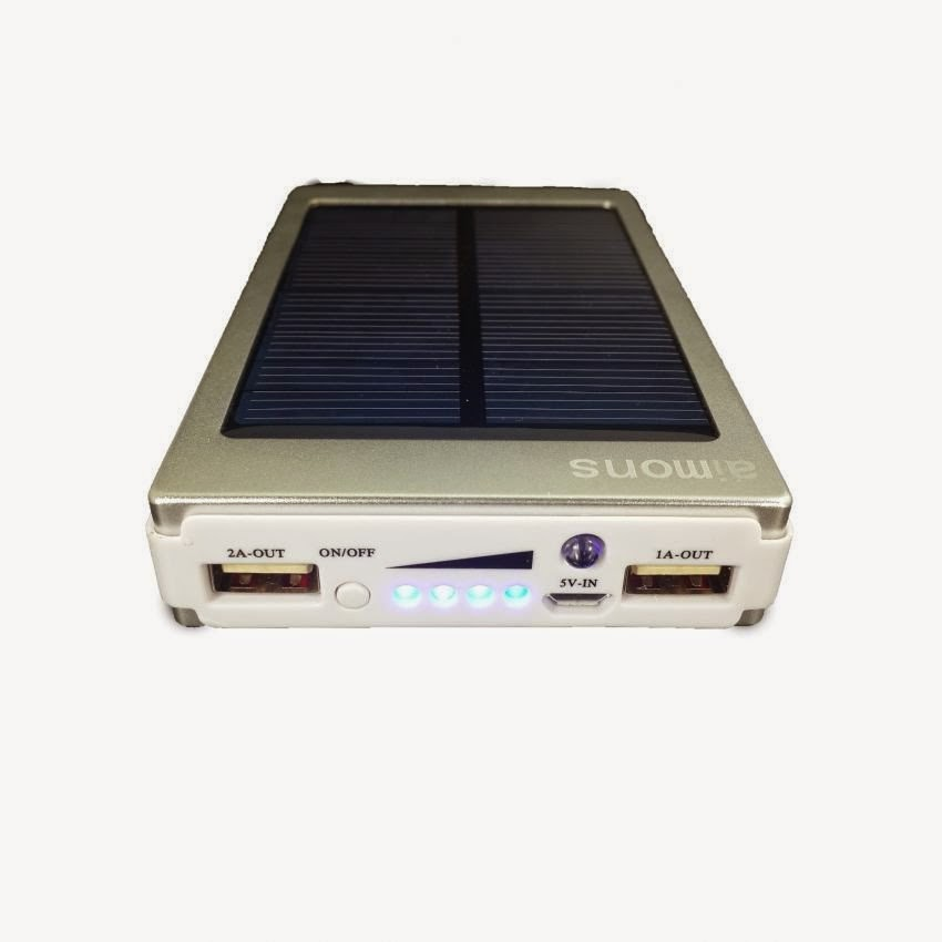 Power Bank Solar Tenaga Surya - 15000 mAh