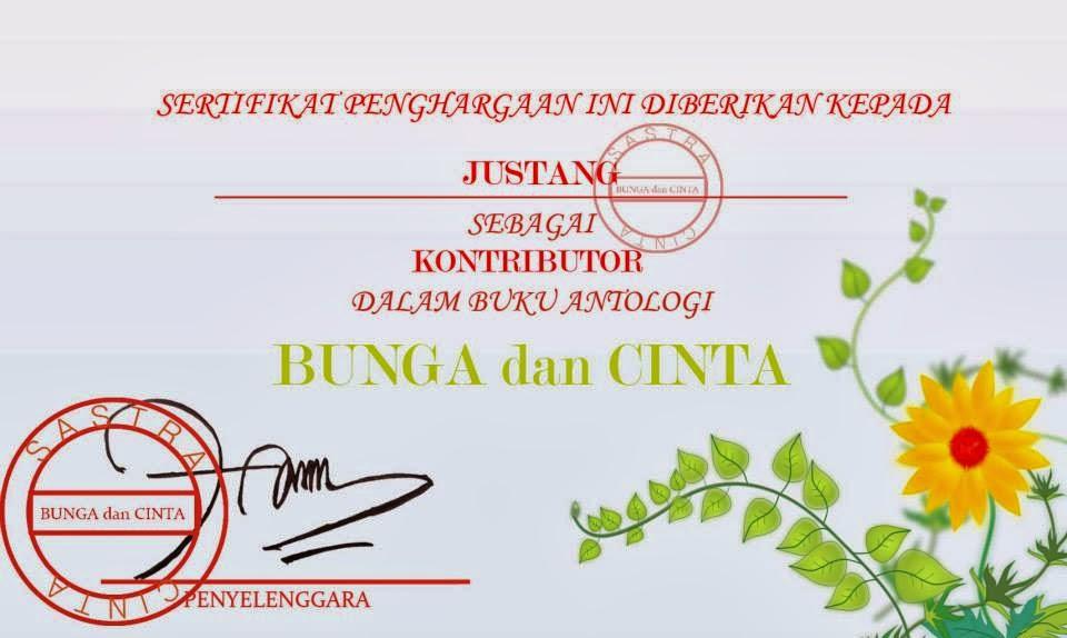 sertifikat bunga dan cinta